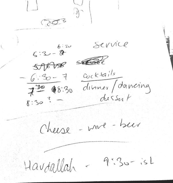 Bat Mitzvah Notes Cocktail Napkin