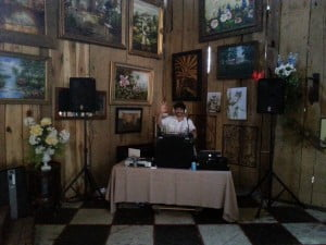 View of the DJ before the wedding.
