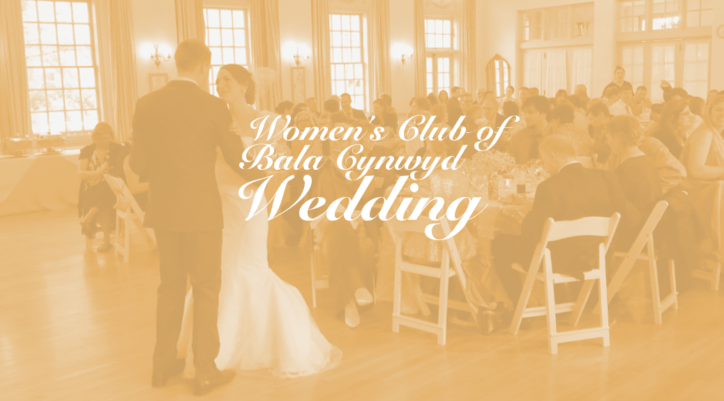 Woman's Club of Bala Cynwyd Wedding