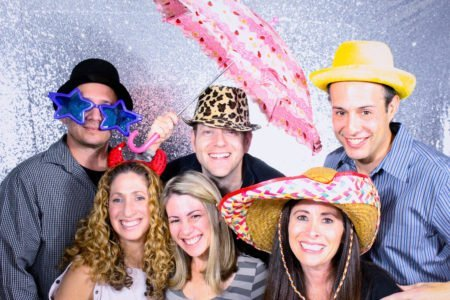 Birthday Party at Bernie's in Hatboro - Photo Booth Umbrella