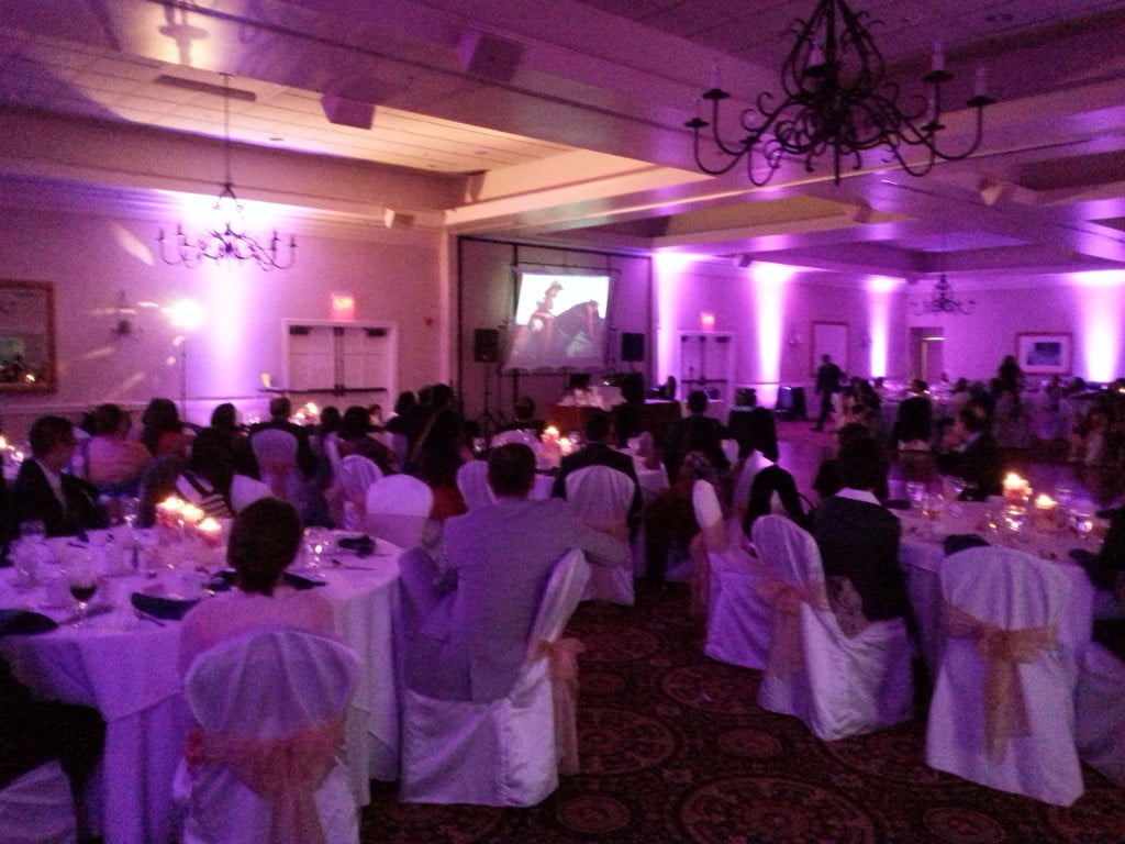 Indian Spring Country Club Wedding Big Screen
