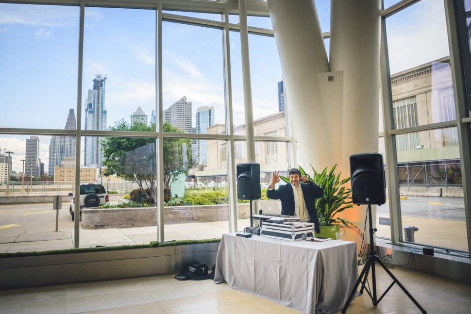 Cira Centre Wedding DJ Setup